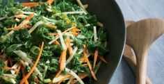 Kale Salad with Root Vegetables and Apple | KitchenDaily.com