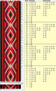 20 tarjetas, 3 colores, repite cada 12 movimientos // sed_385 diseñado en GTT༺❁