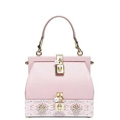 DOLCE & GABBANA Bb6275ai03380400 ($3,460) ❤ liked on Polyvore featuring bags, handbags, pink, purses, pink bag, pink handbags, dolce gabbana purses, dolce gabbana bags and strap bag
