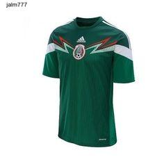 adidas Men's Mexico 2014 World Cup Home Replica Soccer Jersey XL Green Football