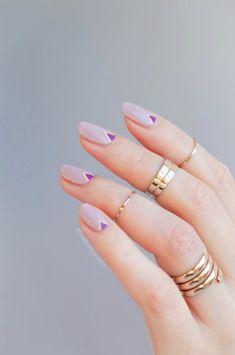 geometric nail art for summer