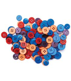 Favorite Findings Basic Buttons Assorted Sizes-Fiesta 130/pkgFavorite Findings Basic Buttons Assorted Sizes-Fiesta 130/pkg,