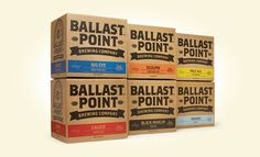 Brand New: New Logo, Identity, and Packaging for Ballast Point by MiresBall