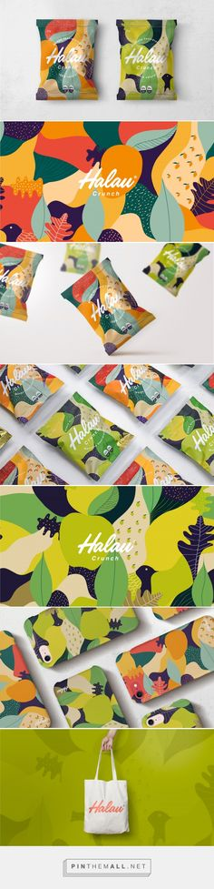 Aloha! Halau fruit snacks packaging design by Creamos - http://www.packagingoftheworld.com/2018/01/halau.html