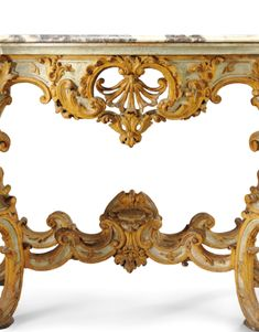 c1735 An Italian yellow and pale blue lacquered console table, Turin circa 1735 20,000 — 30,000 GBP 32,112 - 48,168USD LOT SOLD. 25,000 GBP (40,140 USD) (Hammer Price with Buyer's Premium)