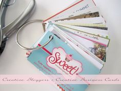 Before you make your own business cards, look here for a bunch of creative ideas!