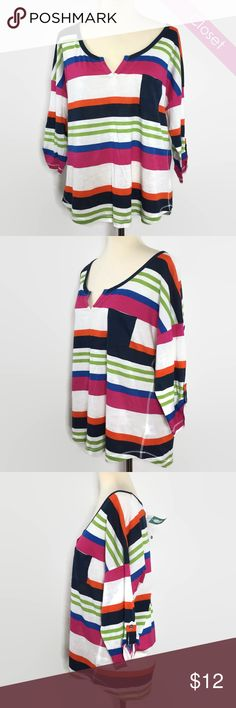 NWT Maurices Striped Tee XL NWT  Maurices Striped Tee  Shoulders 26' Bust 44'  60% Cotton 40% Rayonne Maurices Tops Tees - Short Sleeve