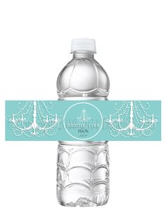 PRINTABLE Tiffany Blue Bridal Shower Wedding Shower Baby Shower Birthday Water Bottle Labels- Print as many as you need. $8.00, via Etsy.