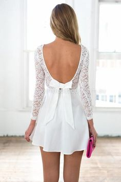 The Lucky One Dress (White)