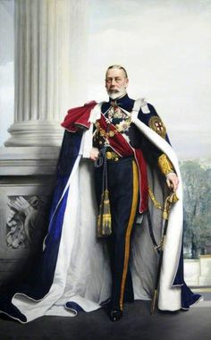 George V grandson of Queen Victoria and Prince Albert Second eldest son of Edward VII and Princess Alexandra of Denmark King of Great Britain from Grandfather of Queen Elizabeth II Reine Victoria, Queen Victoria, Roi George, Princess Alexandra Of Denmark, English Royalty, Art Uk, Kaiser, British History, Men's Clothing