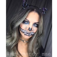 Skelekitty #halloween #halloweenmakeup #halloweeninspo