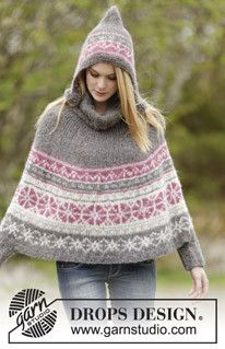 Sweet Winter Poncho by DROPS Design von Elfenwerk - knittingdesign by Jolanta-H.Ahlers auf DaWanda.com