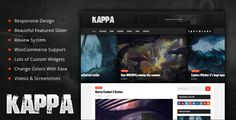 Kappa - A Gaming WordPress Theme . Kappa has features such as High Resolution: Yes, Widget Ready: Yes, Compatible Browsers: IE9, IE10, IE11, Firefox, Safari, Opera, Chrome, Compatible With: WooCommerce 2.5, WooCommerce 2.4.x, WooCommerce 2.3.x, Software Version: WordPress 4.6.1, WordPress 4.6, WordPress 4.5.x, WordPress 4.5.2, WordPress 4.5.1, WordPress 4.5, WordPress 4.4.2, WordPress 4.4.1, WordPress 4.4, WordPress 4.3.1, WordPress 4.3, WordPress 4.2, WordPress 4.1, Columns: 2