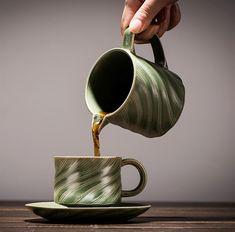 Empire ceramic coffee cup! Ceramic Coffee Cups, Matching Gifts, Vintage Ceramic, Spiral, Empire, Ceramics, Mugs, Tableware, Food