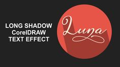 Long Shadow Text effects: CorelDRAW Text Effect #4
