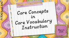 PrAACtical AAC: Core Concepts in Core Vocabulary Instruction. Pinned by SOS Inc. Resources. Follow all our boards at pinterest.com/sostherapy/ for therapy resources.
