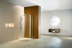 A New 'Curved' Wet Room Panel From Matki Glass Shower Panels, New Panel, Bathroom Showers, Uk Homes, Curved Glass, Wet Rooms, Modern Bathroom, Contemporary, Wall