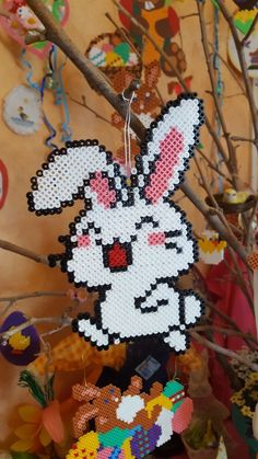Fuse Beads, Perler Beads, Beadwork, Pixel Art, Christmas Ornaments, Holiday Decor, Diy, Animals, Hama Beads