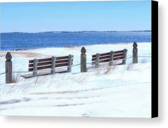Can you imagine how crowded this beach is in the middle of the summer? But on this glorious March day, there were maybe five people on Old Orchard Beach when we were there. The beach is so serene and enjoyable this time of year! These benches gazing out on the Atlantic Ocean look very peaceful and contemplative surrounded by the snow. I love the serenity of this photograph. This really is the Picture Perfect Spot!