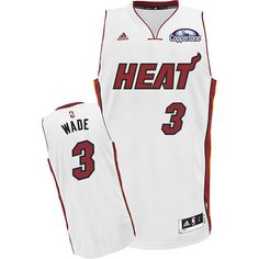 adidas Miami Heat NBA 2012-2013 White Black Swingman Jersey - White ... b6d54c7eb575