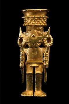 Anthropomorphous pendant, Callima-Malagana rehion, The America's, ca. 200-1300 A.D.