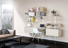 Smart furniture solution combining elegant design with impressive flexibility Home Office, Office Desk, Shelf System, Dressing Area, Smart Furniture, Laque, Module, Wood Design, Decoration