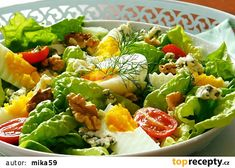 Vegetable Salad, Cobb Salad, Vitamins, Salads, Food And Drink, Vegetarian, Healthy Recipes, Vegetables, Fitness