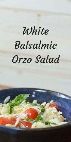 A simple and refreshing Orzo Pasta salad for any lunch or picnic. Tossed with a White Balsamic dressing this Orzo recipe works as a side to any dish. Cooking Pasta, Cooking Recipes, Healthy Recipes, Delicious Recipes, Yummy Food, Salad Bar, Soup And Salad, Balsamic Dressing, Pasta Salad Recipes