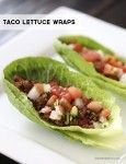 Taco lettuce wraps on iheartnaptime.com - a healthy and delicious alternative to hardshell tacos!