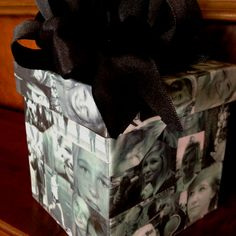 Money box for my granddaughter's graduation.....pull on the bow and money, taped end to end rolls out!