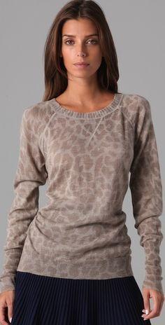 Rebecca Taylor - Cloud Leopard Pullover
