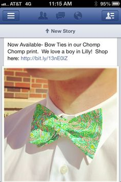 Lilly Pulitzer bow tie-LOVE this!!!!!!