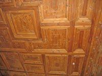 Decorated ceiling - Stüa at Pestalozzi Palace in Chiavenna, Lombardy, Italy