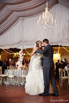 First Dance as Mr. & Mrs. Grand Pavilion @ Nottoway Plantation! Great Gatsby Wedding! Tent Reception! Vintage Wedding!