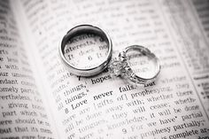 Aw, I love this idea of the wedding rings in the Bible.