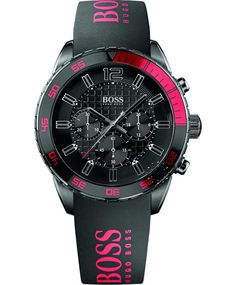 BOSS Sport Stainless Steel Black Rubber Strap Η τιμή μας: 399€ http://www.oroloi.gr/product_info.php?products_id=35023