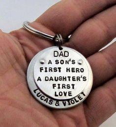 Dad Keychain  Personalized Keychain  Hand by FiredUpLadiesHammer, $32.00