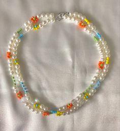 Trendy Jewelry, Cute Jewelry, Fashion Jewelry, Diy Jewelry, Diy Necklace, Necklace Designs, Necklace Ideas, Beaded Jewelry Designs, Necklace Tutorial