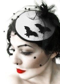 BAT HAT  White Satin by NBBWEAR on Etsy, $30.00