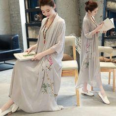 Women Summer Dress 2017 Fashion Women Long Maxi Spring Summer Dress Cotton Linen Loose Causal Robes Print Dresses Vestido  #Affiliate