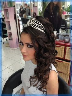 Quinceanera Hairstyles With Tiara