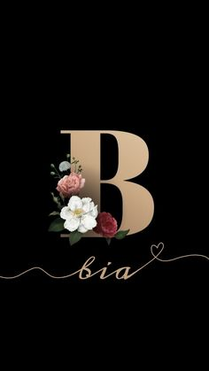 Go Wallpaper, Tumblr Wallpaper, Lb Logo, Alphabet Wallpaper, B Tattoo, Decoupage, Vector Free, Letters, Floral