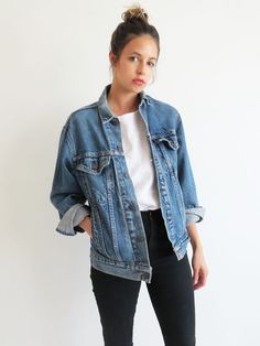 54750439397 Different Ways to Rock Denim. Denim Jacket Outfit OversizedDenim Jacket  VintageDenim Jacket Outfit SummerDenim ...