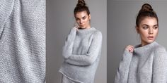 Модный свитер женский, вязаный спицами, с описанием из коллекции Calm. Стильный женский свитер оверсайз с рукавом реглан - невероятно модный в новом сезоне 2018 года - теперь легко связать спицами своими руками.