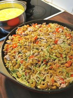 Kaurainen broilerimakaronilaatikko - Frutti Di Mutsi Paella, Fried Rice, Fries, Yummy Food, Ethnic Recipes, Waiting, Ideas, Delicious Food, Thoughts