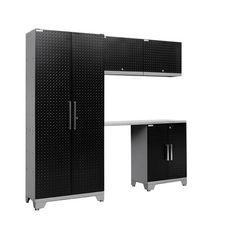 NewAge Products Performance Diamond Series 7' H x 6.5' W x 2' D 5 Piece Cabinet Set & Reviews | Wayfair