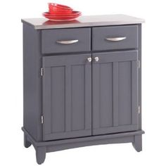 Amazon.com: Home Styles Buffet of Buffets Stainless Steel Top Small Buffet Server in Gray Finish: Furniture & Decor