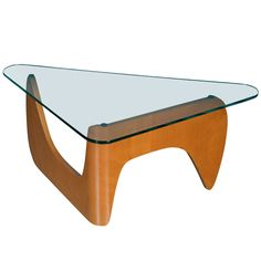 Rare Glastop Coffee Table By W. Lutjens  The Netherlands  1953  Item 559. Great (Noguchi inspired?) coffeetable by dutch designer W.Lutjens. Produced at Den Boer, Gouda ,The Netherlands.A hard to find piece!!