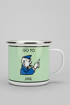 Monopoly Mug! #urbanoutfitters. Cute gift for your ornery coffee drinkers