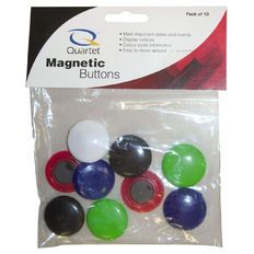 Quartet Magnetic Buttons 30mm Assorted 10 Pack